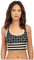 DKNY Close Up Racerback Crop Top w/ Removable Soft Cups