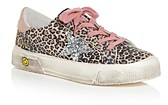 Golden Goose Girls' May Leopard Print Low Top Sneakers - Toddler, Little Kid