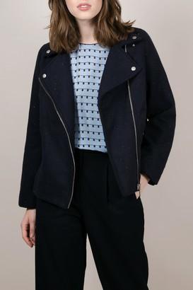 Frnch Asymmetrical Zip Front Jacket