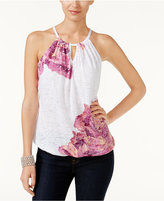 INC International Concepts Burnout Halter Top, Created for Macy's