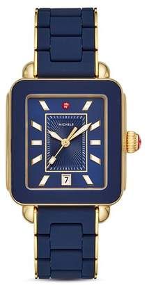 Michele Deco Sport Silicone Watch, 34mm x 36mm