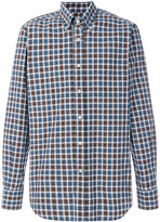 Canali plaid button down shirt