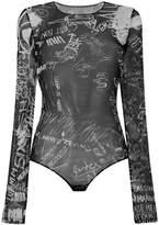 MM6 MAISON MARGIELA mesh bodysuit