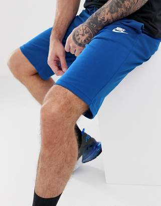 Nike Club jersey shorts in blue