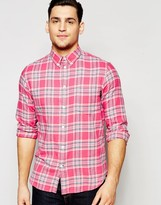 Ps By Paul Smith Paul Smith Jeans Shirt In Brushed Check In Tailored Slim Fit