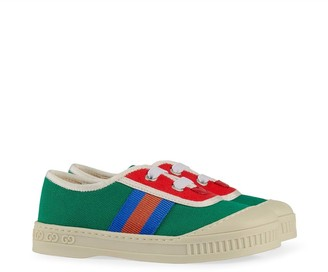 Gucci Kids GG Web lace-up sneakers