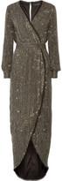 Rachel Zoe Esmeralda Embellished Silk-chiffon Gown - Black