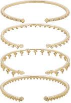 Kendra Scott Delphine Pinch Bracelet Set of 4 in Metallic Gold.