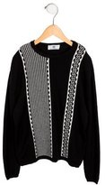 Young Versace Boys' Patterned Wool Sweater
