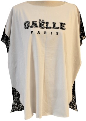 Gaelle Bonheur White Cotton Top for Women