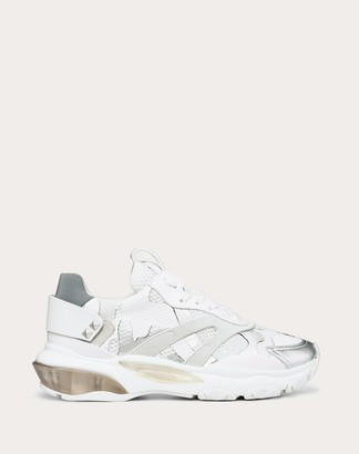 Valentino Bounce Camouflage Low-top Sneaker Women White Polyester 40%, Lambskin 35%, Calfskin 25% 35.5