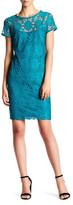 Nine West Short Sleeve Lace Dress