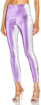 Area Ankle Zip Legging in Silver Violet | FWRD