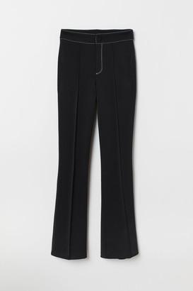 H&M Flared Jersey Pants - Black
