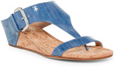 Donald J Pliner Doli Denim Wedge Sandal