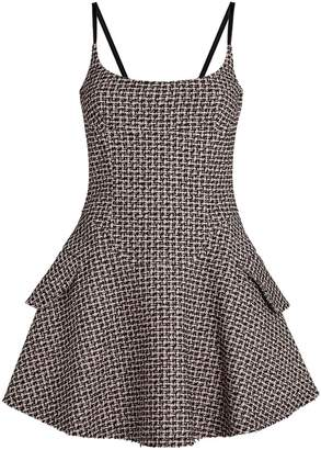 Alexander Wang Tweed Flare Mini Dress