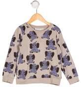 Mini Rodini Girls' Printed Knit Sweater