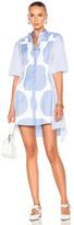 Stella McCartney Stripe Shirting Short Sleeve Dress