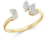 Adina 14K Yellow Gold Diamond Pave Cluster Open Ring