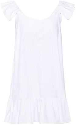 SUNDRESS Mimi Pom Pom-trimmed Embellished Cotton-gauze Coverup