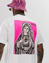 Honour HNR LDN back print t-shirt in oversized fit