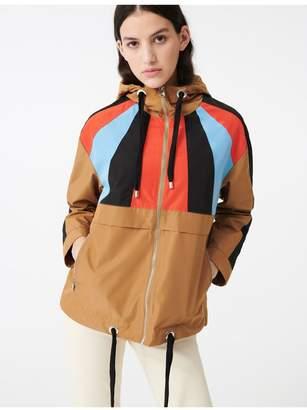 Maje Multicolored Hooded Windbreaker