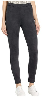 Sanctuary Original Grease Faux Suede Legging (Black) Women's Casual Pants