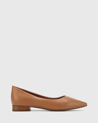 Wittner - Women's Brown Casual Shoes - Marina Leather Pointed Toe Slip On Flats - Size One Size, 36 at The Iconic