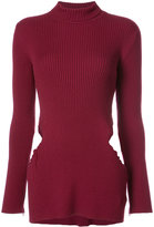 Yang Li ribbed torn hip turtleneck