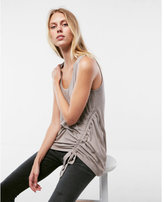 Express ruched side tie tank