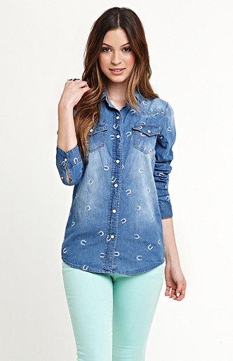 Roxy Embellished Western Shirt