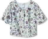 Gap Floral flannel smock top