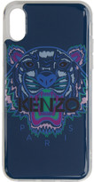 Kenzo Blue and Purple Tiger iPhone X Case