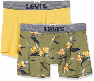 Levi's Men's Tropical AOP Boxer Brief 2p Shorts