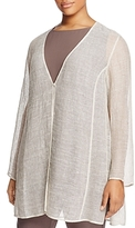 Eileen Fisher Plus Long V-Neck Jacket