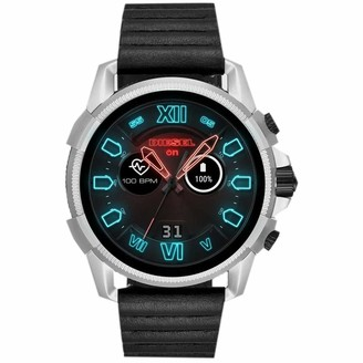 Diesel Men's Touchscreen Connected Smartwatch with Leather Strap DZT2008