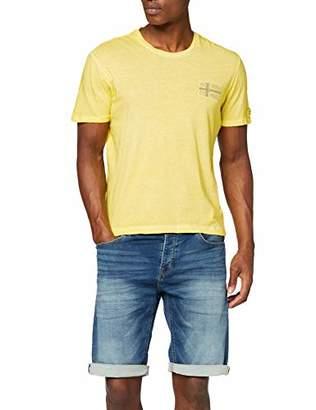 Napapijri Men's Sneek T-Shirt, (Summer Yellow Y66), Large