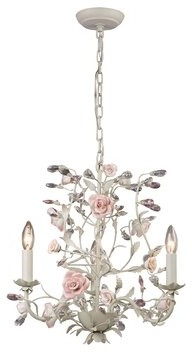 Viv + Rae Twila 3 - Light Candle Style Classic / Traditional Chandelier with Crystal Accents