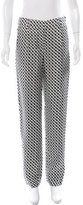 Diane von Furstenberg Two-Tone Straight-Leg Pants w/ Tags
