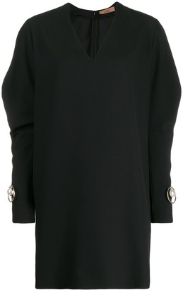 Coliac pearl-detail batwing sleeve dress