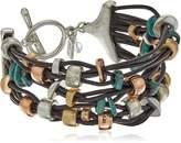 "Robert Lee Morris Femme Petal"" Mixed Metal Bead Multi-Row Toggle Bracelet"