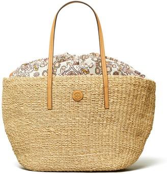 Tory Burch Straw Liability Tote Bag