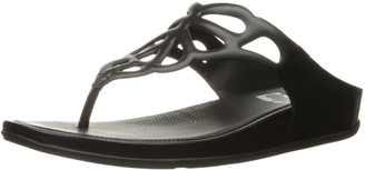 FitFlop Women's Bumble Leather Toe-Post Flip Flop