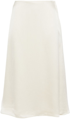 Theory Wrap-effect Hammered-satin Skirt