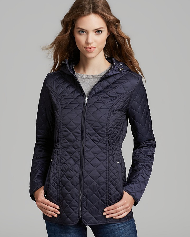Laundry by Shelli Segal Rain Coat - Quilted with Hood