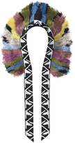 Forest of Chintz Aztec Feather Fringe Necklace