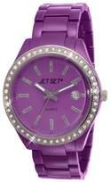 Jet Set J 83954-030 Mykonos-Women's Quartz Analogue Watch-Purple Face-Purple Aluminum Bracelet