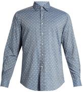 Glanshirt Ween polka-dot embroidered cotton shirt