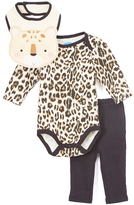 Bon Bebe Black & Brown Leopard Bodysuit Set