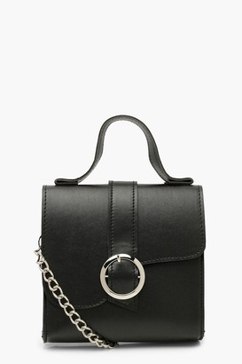 boohoo Mini Structured Buckle Cross Body Bag